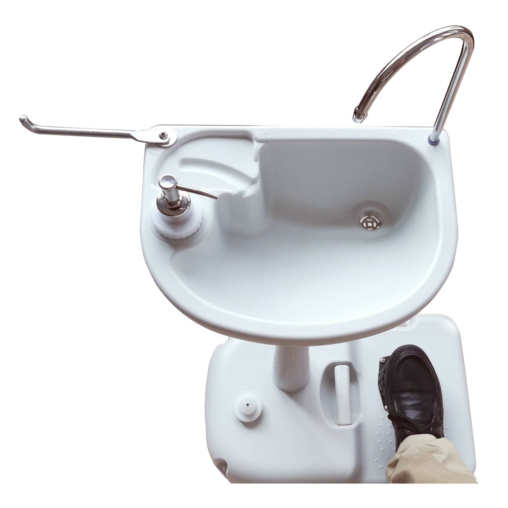 Outdoor Wash Basin Sink Portable Water Tank Faucet