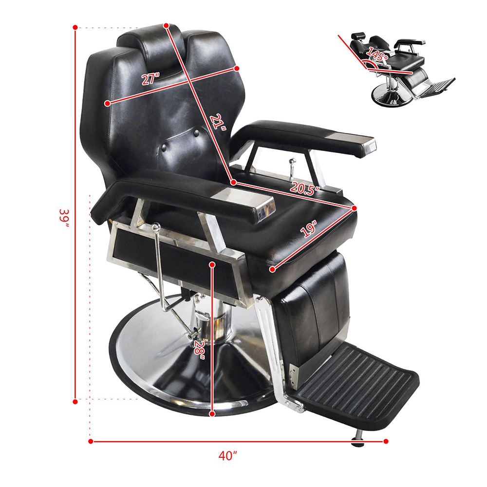 All Purpose Hydraulic Reclining Barber Chairs Salon Beauty Spa Sh&oo Black New  sc 1 st  eBay & All Purpose Hydraulic Reclining Barber Chairs Salon Beauty Spa ...