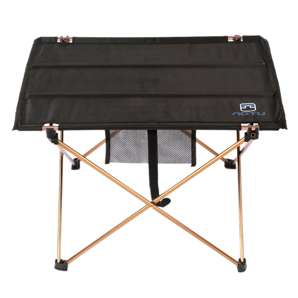 Fold Up Aluminium Roll Up Table Camping Outdoor Indoor Picnic W//Portable Bag