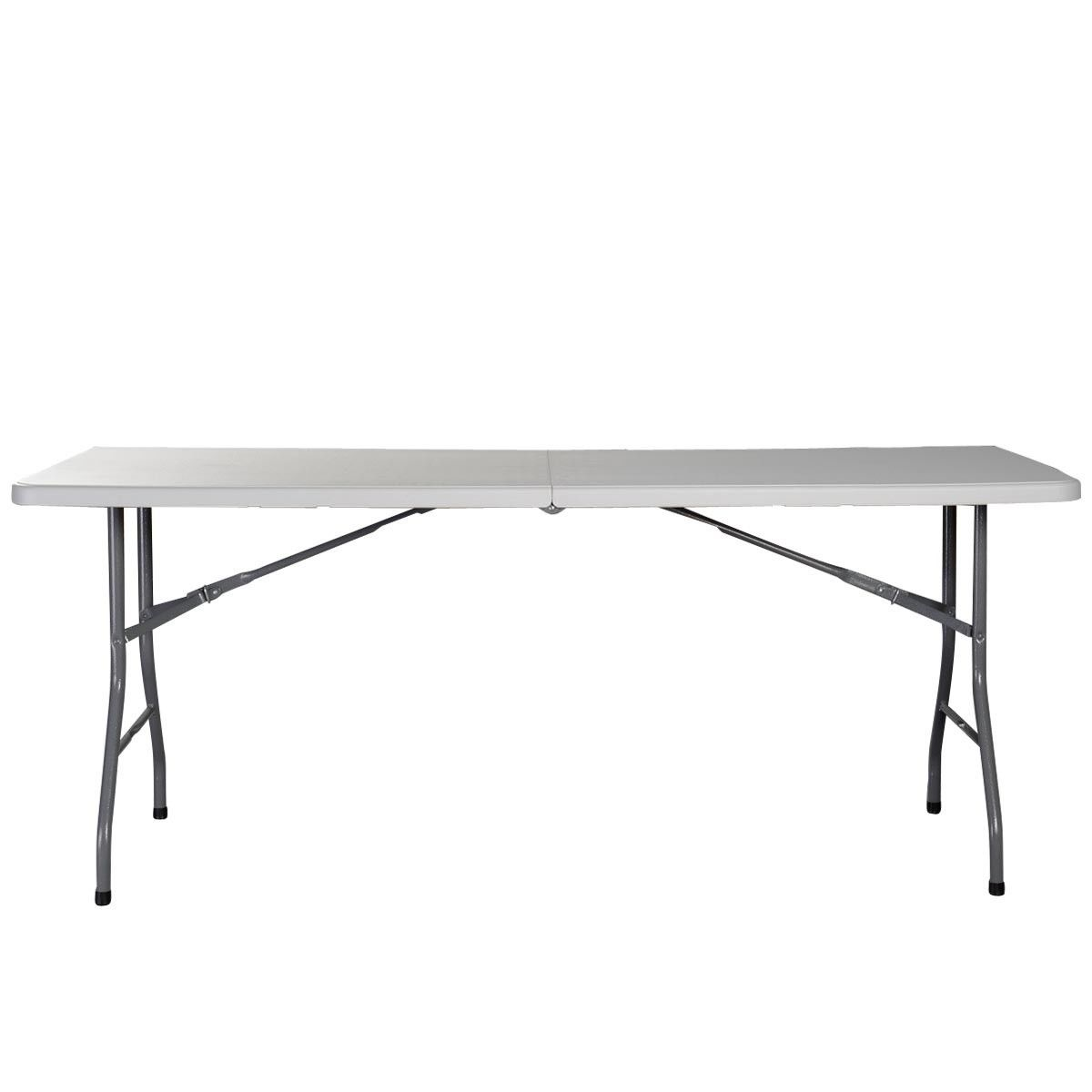 6 ft portable folding table outdoor picnic plastic camping - Plastic folding dining table ...