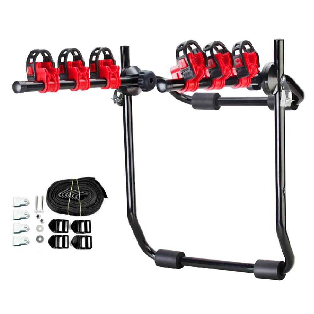 3 bike trunk mount hatchback suv or car sport bicycle. Black Bedroom Furniture Sets. Home Design Ideas