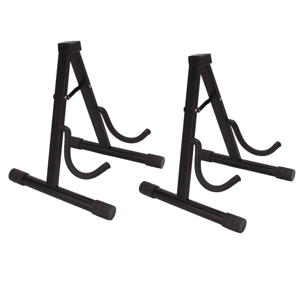 2 x universal portable adjustable a frame electric guitar floor stand holder 743828950149 ebay. Black Bedroom Furniture Sets. Home Design Ideas