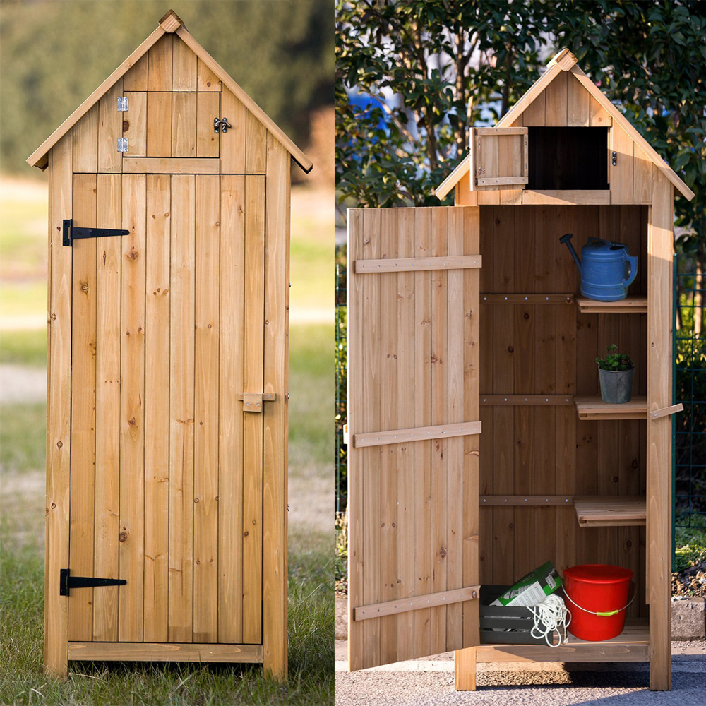 arrow shed with single door wooden garden shed wooden lockers with fir wood - Garden Sheds Wooden