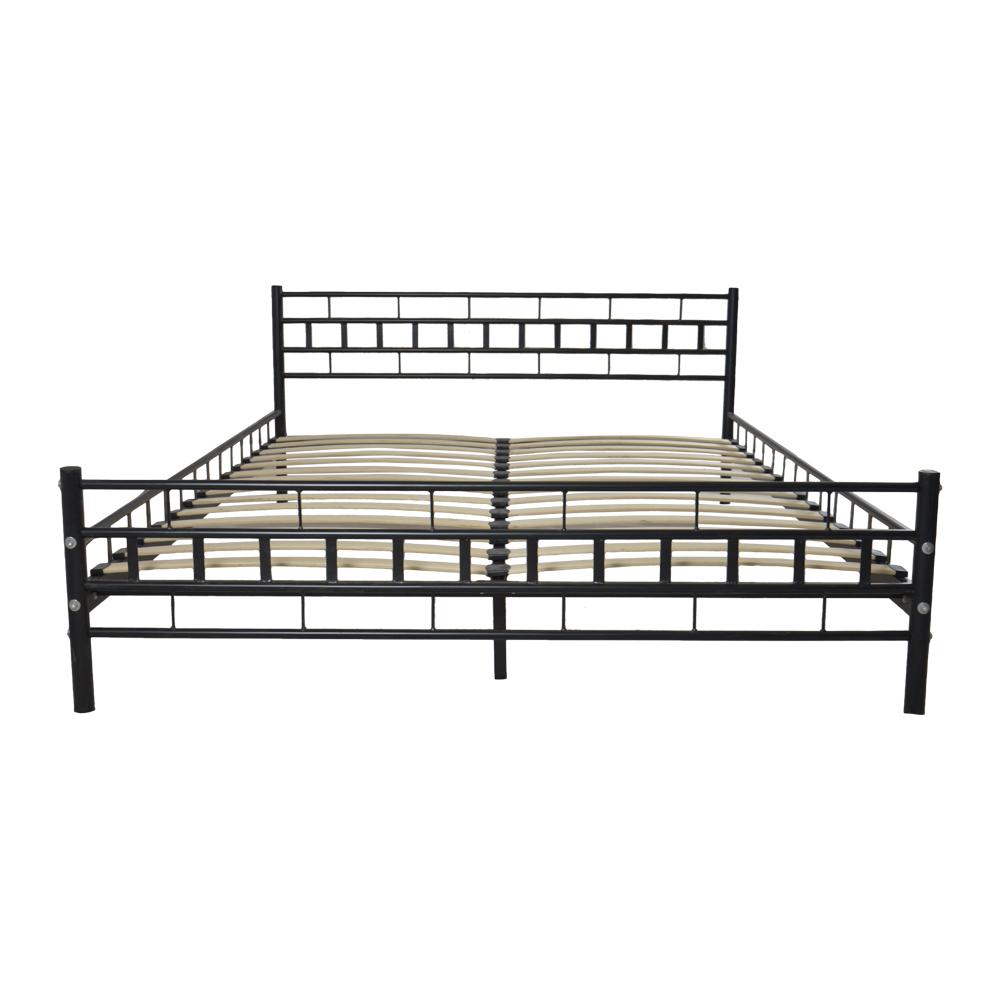 new black queen wood slats bed frame platform headboard footboard furniture ebay. Black Bedroom Furniture Sets. Home Design Ideas