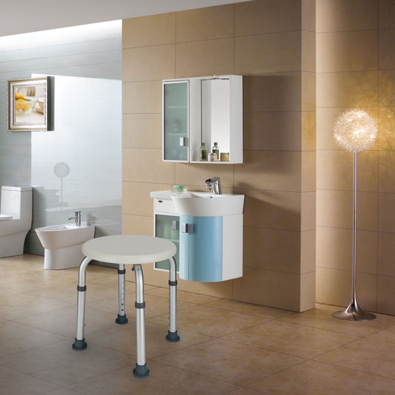 Salon Furniture Us Stock 100% True Elderly Bath Shower Chair Aluminum Alloy Medical Transfer Bench Ergonomic Old People Bathroom Armchair Cst-3052 White