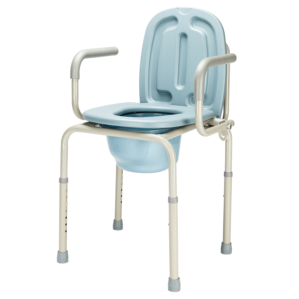 450lbs Heavy Duty Drive Medical Bedside Commode Chair Grey   eBay