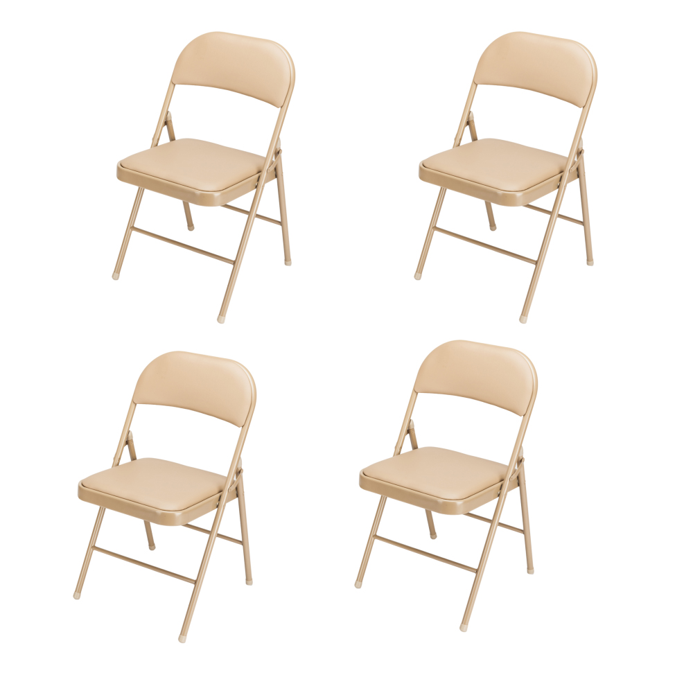 Cool Details About 4 Pcs National Public Seating Steel Folding Chair W Fabric Padded Seat And Back Theyellowbook Wood Chair Design Ideas Theyellowbookinfo