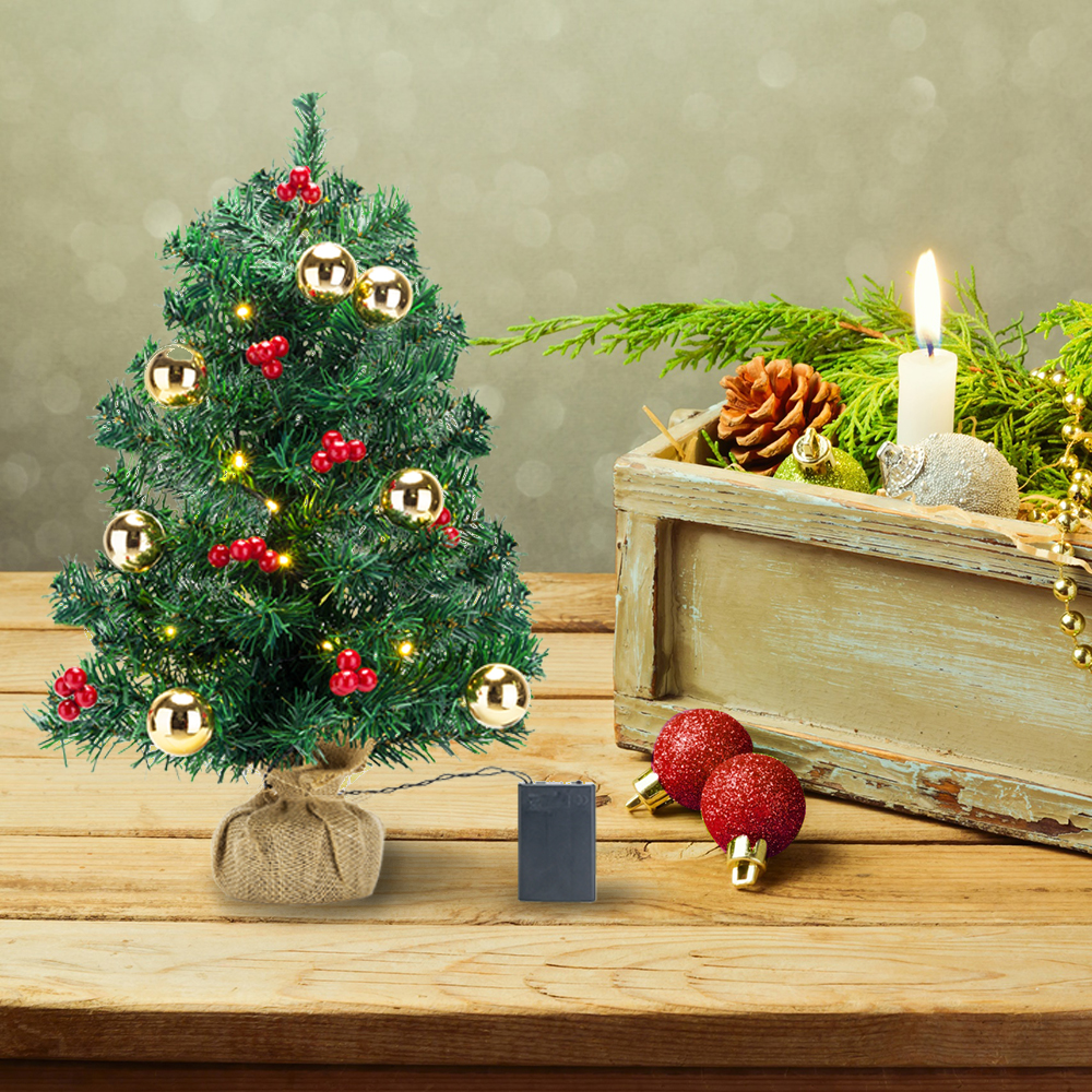 Christmas Tree Fruit Ornaments.Details About Tabletop Artificial Small Mini Christmas Tree With Led Light Ornaments