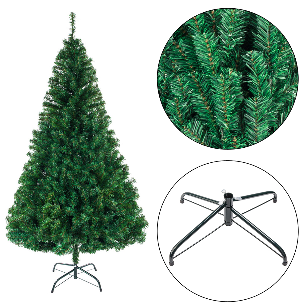 Artificial Christmas Tree Stand.Details About 8ft Artificial Christmas Tree Stand Bushy Xmas Tree Home Traditional Decor