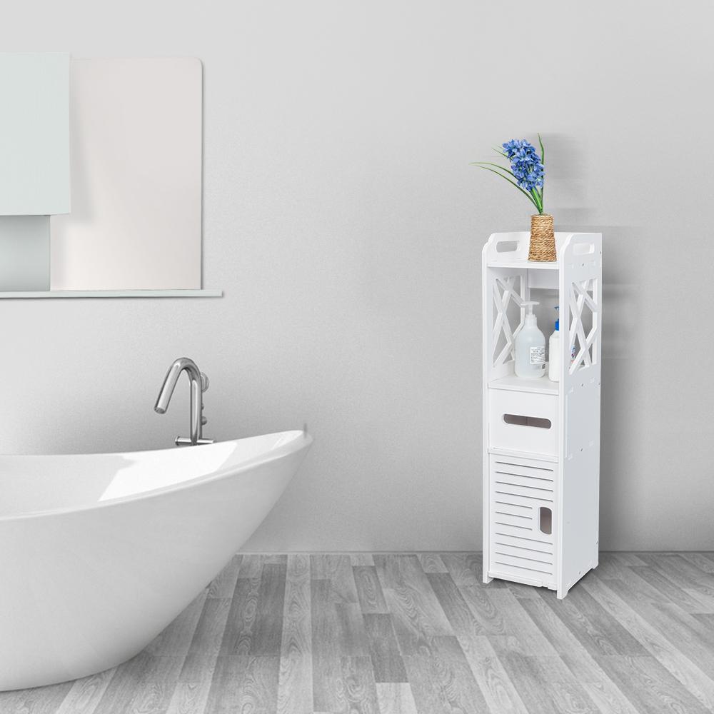 Tremendous Details About New Bathroom Floor Cabinet Storage Toilet Bath Organizer Drawer Shelf White Wood Interior Design Ideas Skatsoteloinfo