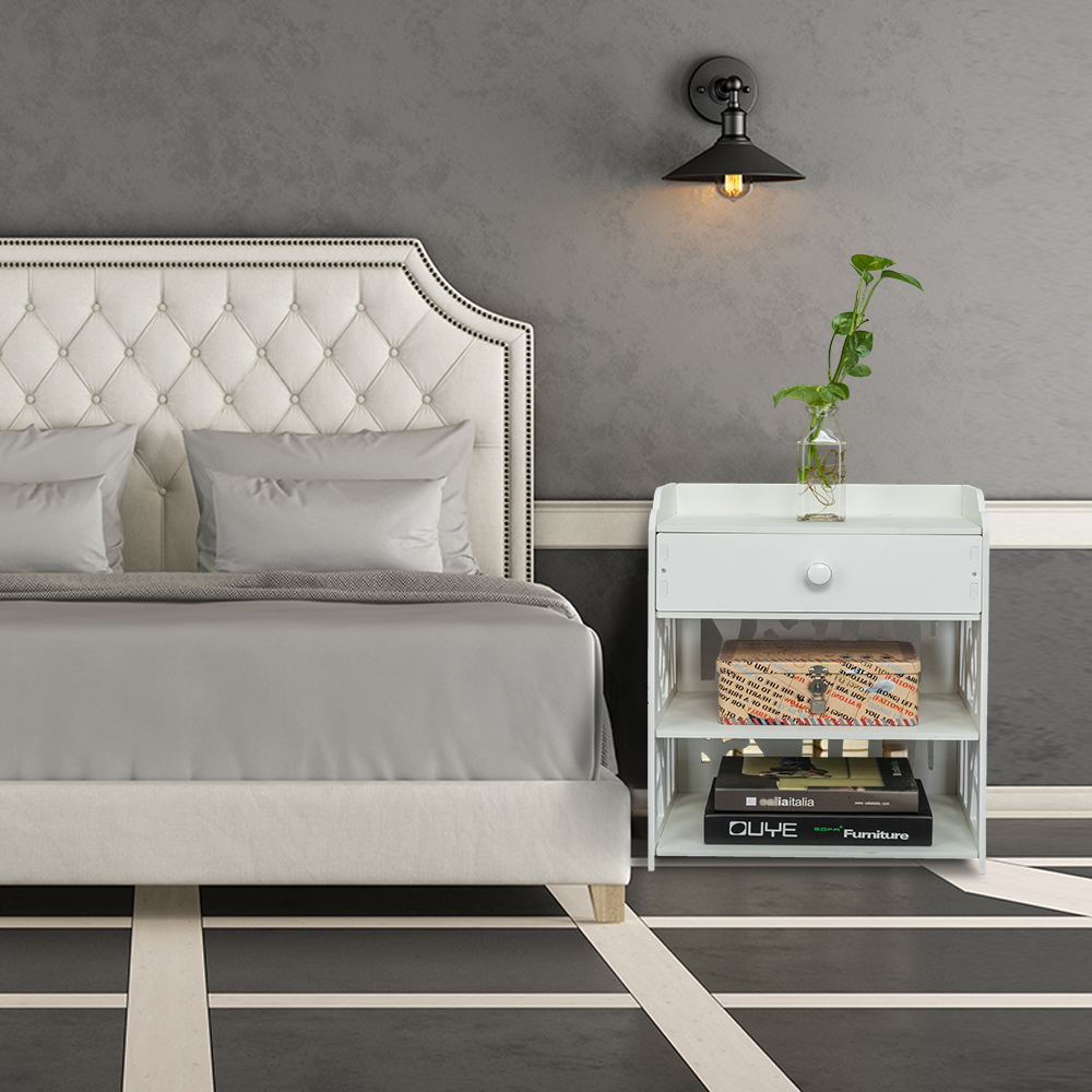 Details about Wooden Nightstand Bed Sofa Side End Table Hallway Bedroom  Storage Cabinet Shelf