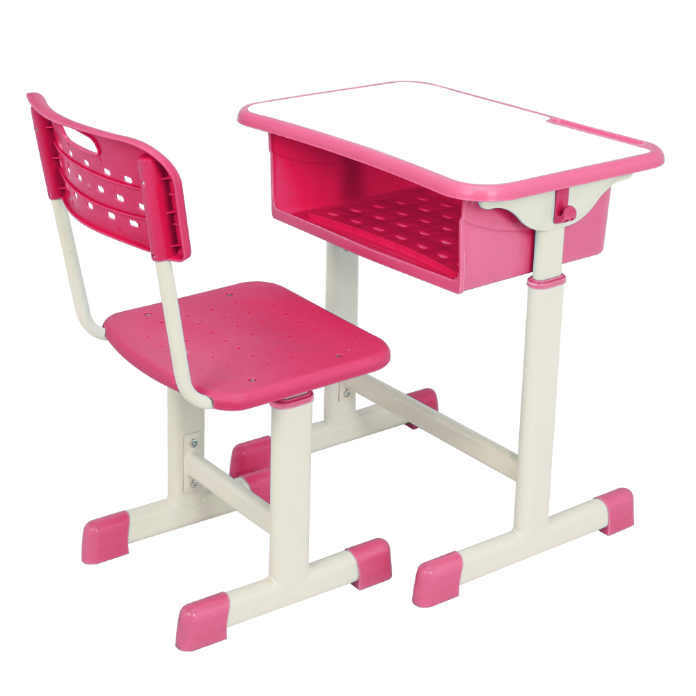 Delicieux Details About Adjustable Height School Student Desk U0026 Chair Set Study  Furniture Storage Pink