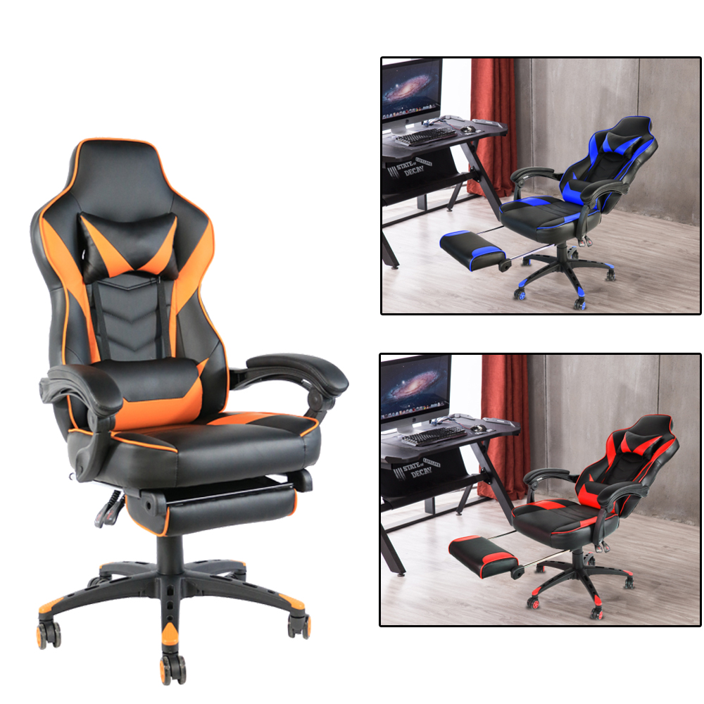 Pleasant Details About Office Gaming Chair Racing Recliner Bucket Seat Computer Desk Footrest Ocoug Best Dining Table And Chair Ideas Images Ocougorg