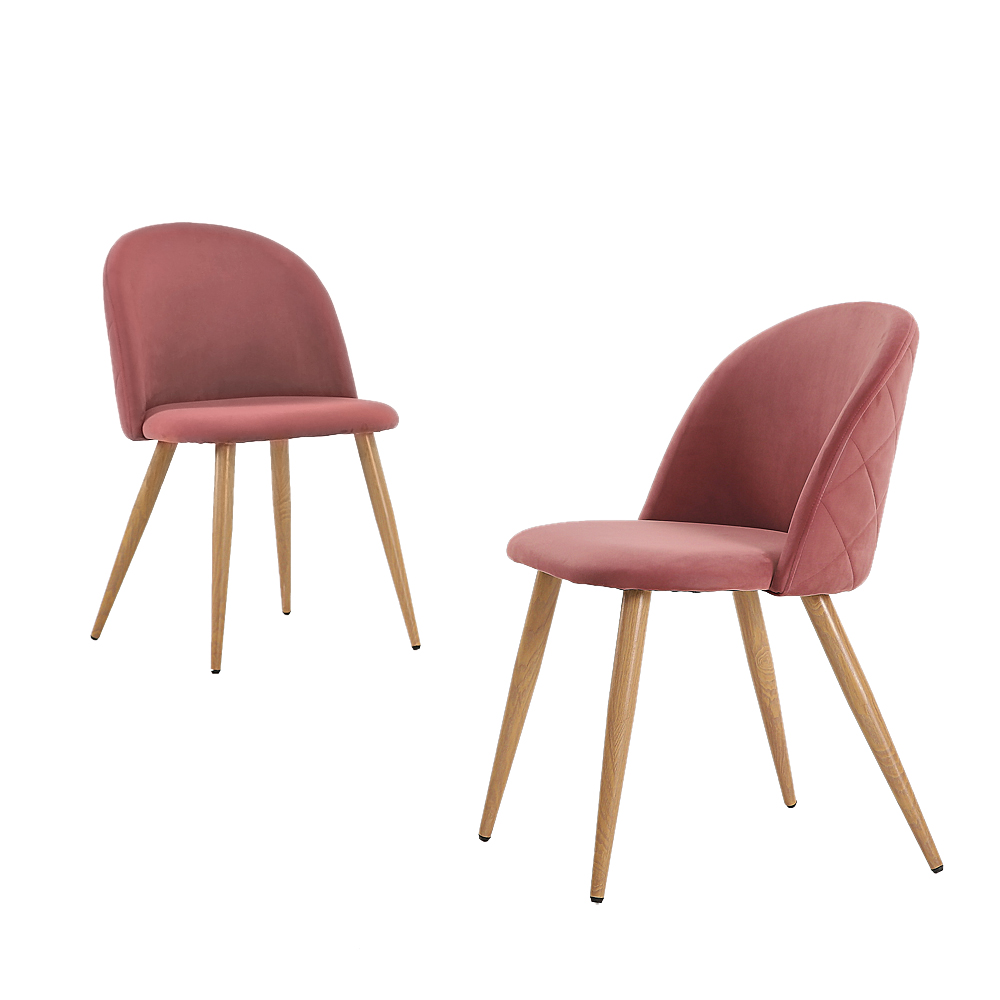 Details about 2pcs Velvet Dining Chairs for Living Room Modern Accent  Leisure Side Chair Pink