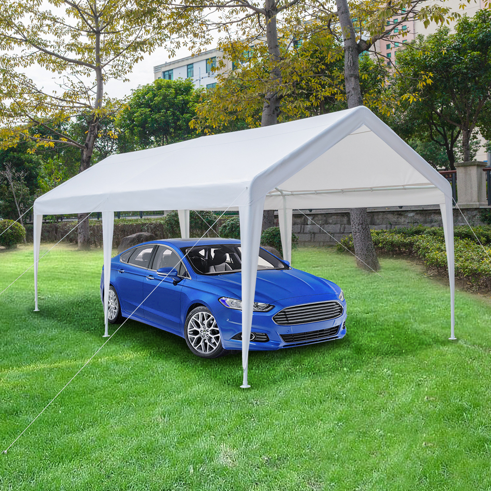 10 x 20 FT Outdoor White Canopy Car Port Shelter Cover ...