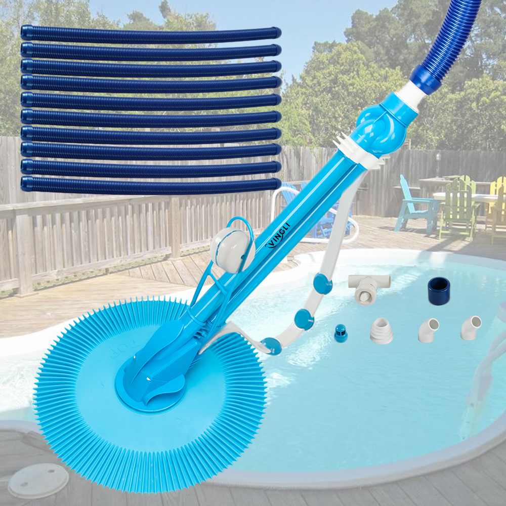 Details about Inground Above Ground Swimming Pool Automatic Cleaner Clean  Vacuum 10x Hose Sets