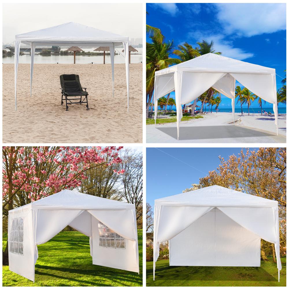 10'x 10' White Gazebo Canopy Beach Tent Party Sun Shade ...
