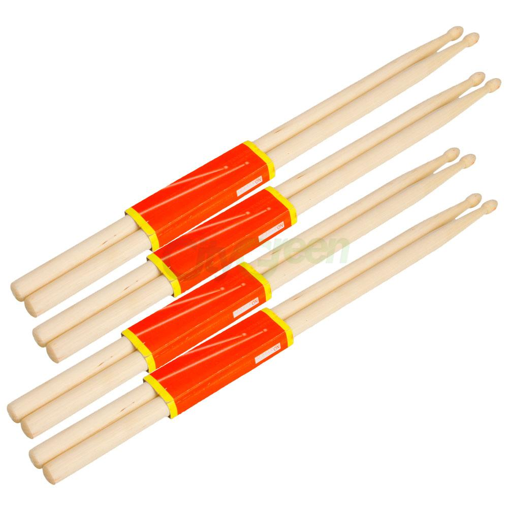 new 4pairs music band maple wood drum sticks drumsticks 5a ebay. Black Bedroom Furniture Sets. Home Design Ideas