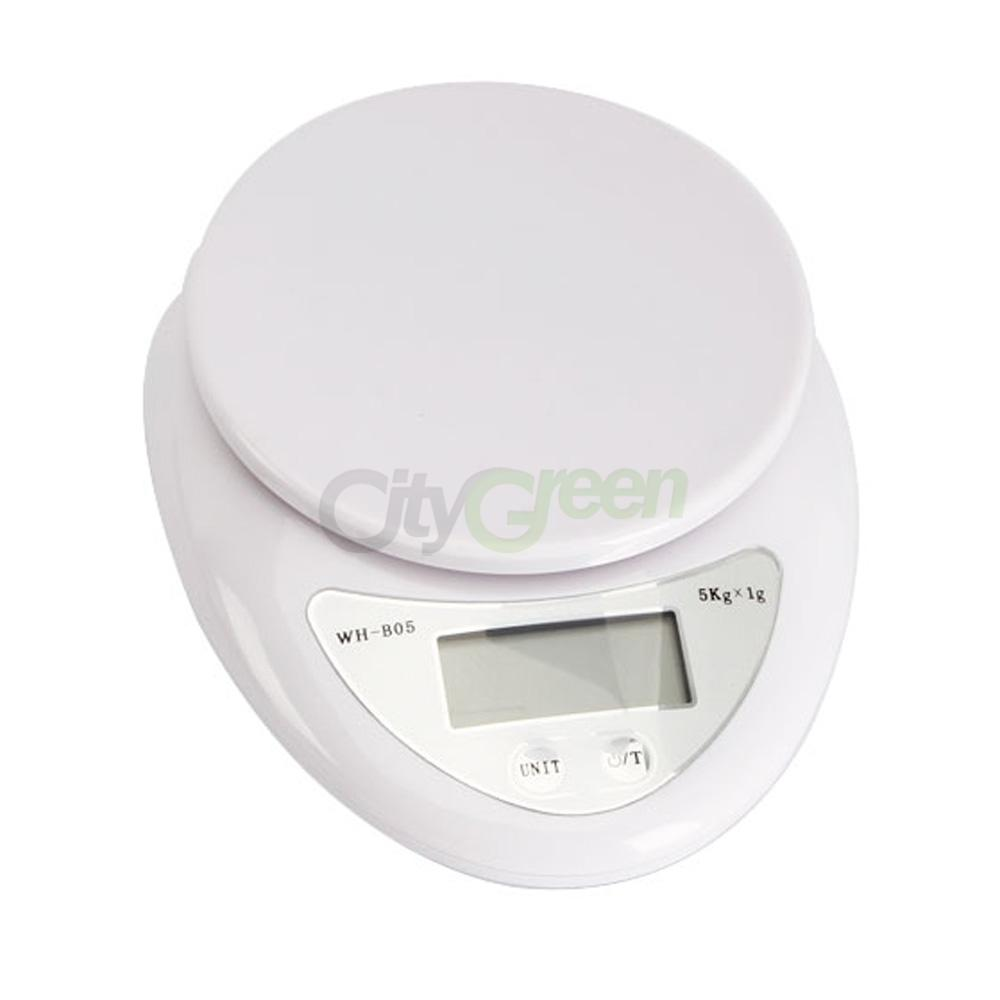 Small Kitchen Weighing Scales 5kg 5000g 1g Digital Kitchen Food Diet Electronic Weight Balance