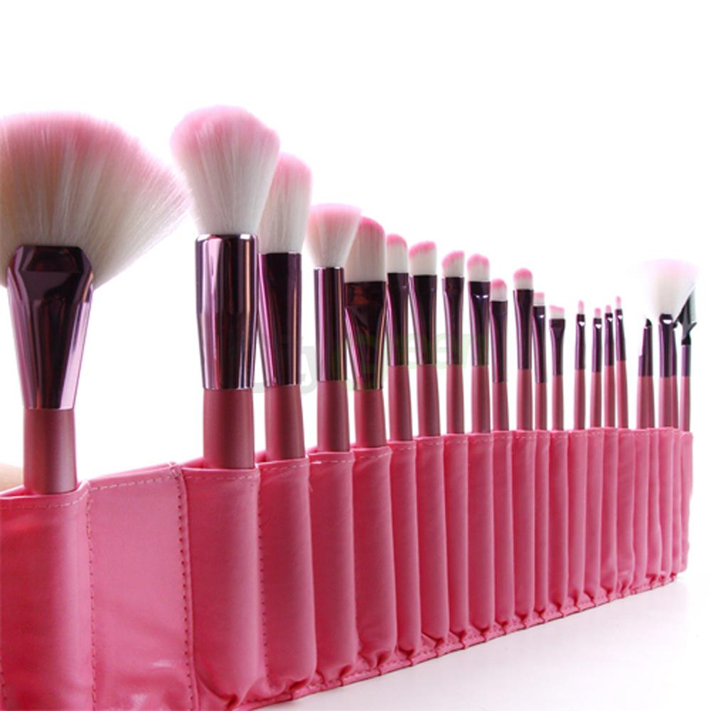 22pcs superior Professional Soft Cosmetic Makeup Brush Set Pink + ...