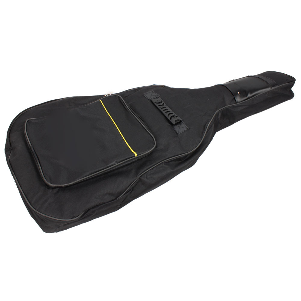 black guitar soft case bag fit acoustic guitar padded straps case for 39 ebay. Black Bedroom Furniture Sets. Home Design Ideas