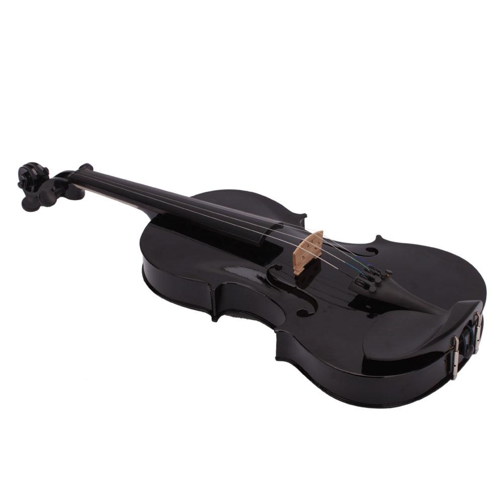4/4 Full Size Acoustic Violin Fiddle Black With Case Bow